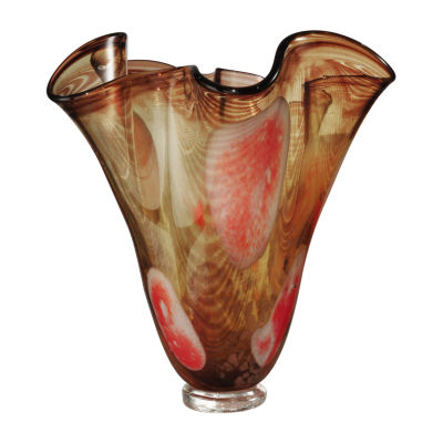 Dale Tiffany Palme Ruffle Art Glass Vase