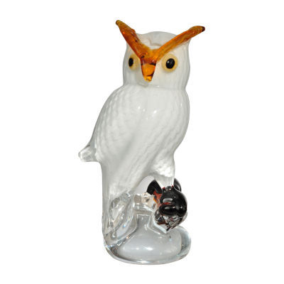Dale Tiffany Owl Art Glass Sculpture