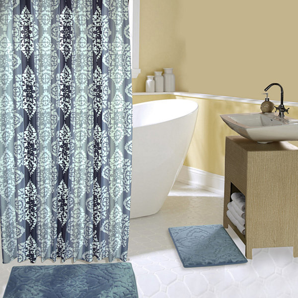 Chesapeake Bay 15-pc Blue Shower Curtain Set