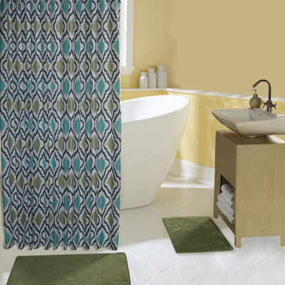 Chesapeake Bay 15-pc. Sage Shower Curtain Set