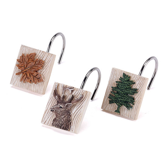 Avanti Nature Walk Shower Curtain Hooks
