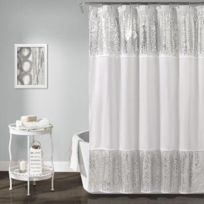 Lush Décor Shimmer Sequins Shower Curtain