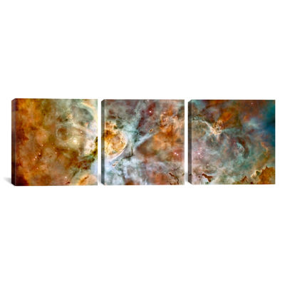 Carina Nebula (Hubble Space Telescope) by NASA Canvas Print