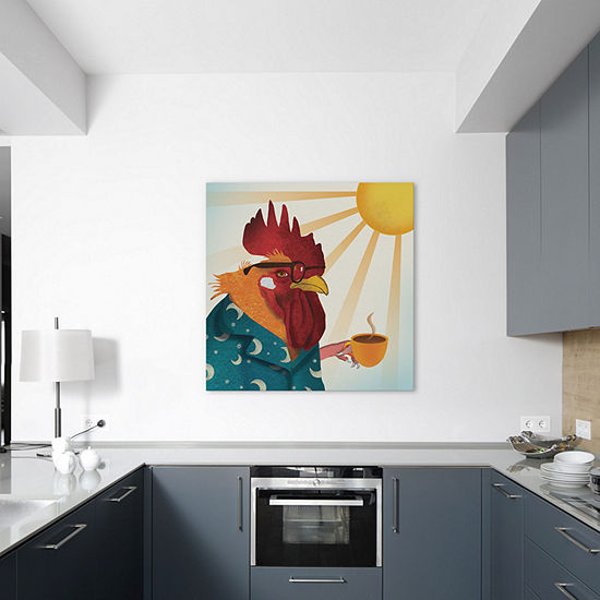 Rooster by Ellen Weinstein Canvas Print