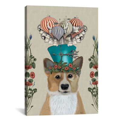 Corgi II by Fab Funky Canvas Print
