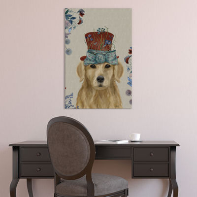 Golden Retriever II by Fab Funky Canvas Print