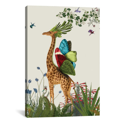 Tropical Giraffe III by Fab Funky Canvas Print