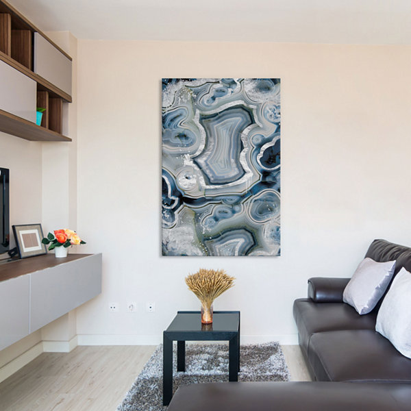 Sterling Sapphire Geode by 5by5collective Canvas Print