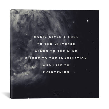 Music I by Galaxy Eyes Canvas Print