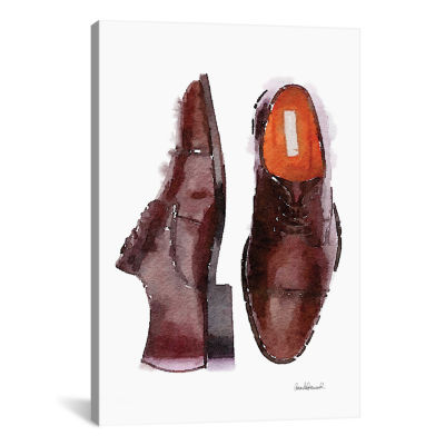 Men's Brown Shoes by Amanda Greenwood Canvas Print