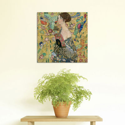 Lady with a Fan by Gustav Klimt Canvas Print