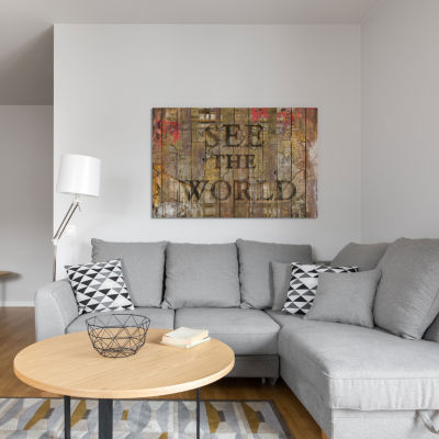 See The World by Diego Tirigall Canvas Print