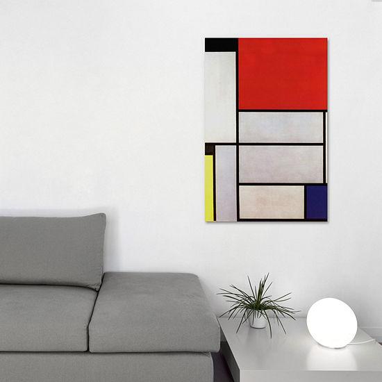 Tableau l; 1921 by Piet Mondrian Canvas Print