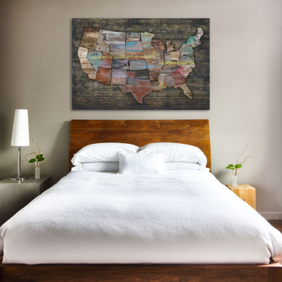 USA Map I by Diego Tirigall Canvas Print