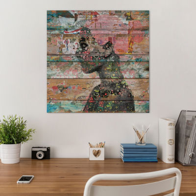 Inner Nature (Profile Of Woman) by Diego TirigallCanvas Print