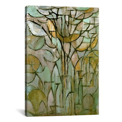 Tree; 1912 by Piet Mondrian Canvas Print