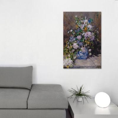 Spring Bouque (grande Vaso Di Fiori) by Pierre-Auguste Renoir Canvas Print
