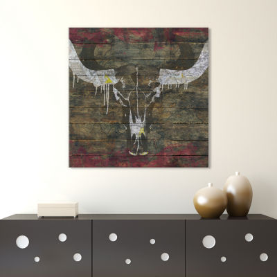Two Sides (Cow Skull) by Diego Tirigall Canvas Print