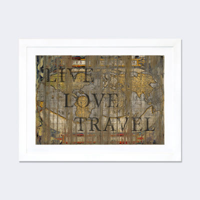 Live Love Travel by Diego Tirigall White Framed Fine Art Paper Print