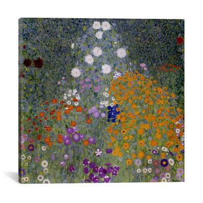 Bauerngarten (Flower Garden) by Gustav Klimt Canvas Print