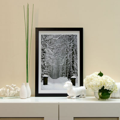 Winter Time Black Framed Fine Art Paper Print