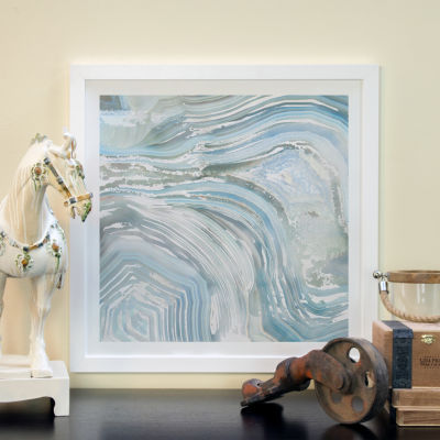 Agate in Blue I by Nan White Framed Fine Art PaperPrint