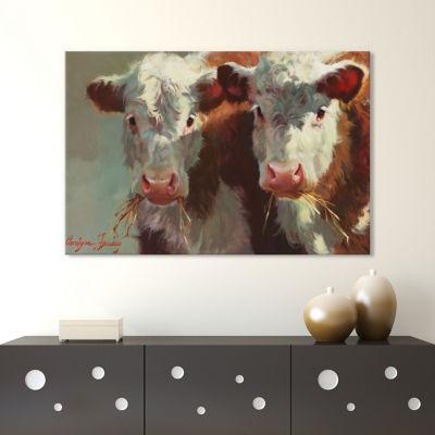 Cow Belles by Carolyne Hawley Canvas Print