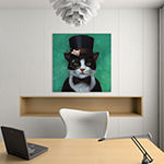 Tuxedo Cat by Lucia Heffernan Canvas Print