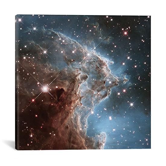 NGC 2174 (Monkey Head Nebula) (Hubble Space Telescope 24th Anniversary Image) by NASA Canvas Print