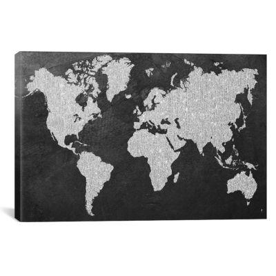 Grey Map by Natasha Westcoat Canvas Print
