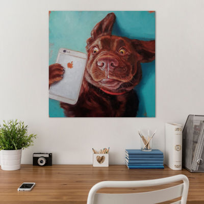 Dog Selfie by Lucia Heffernan Canvas Print