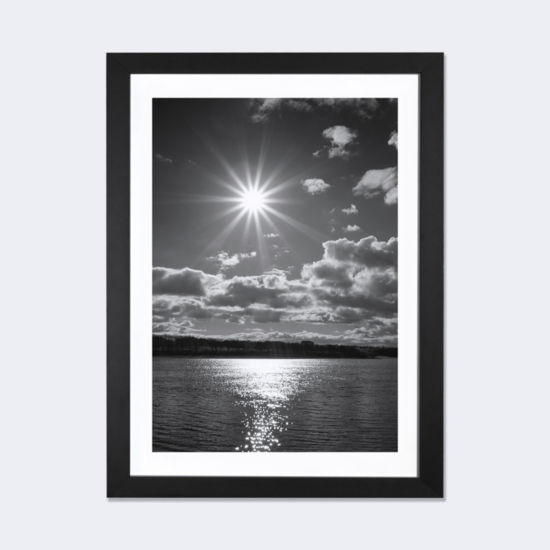 Sun Burst by Martin Henson Black Framed Fine Art Paper Print