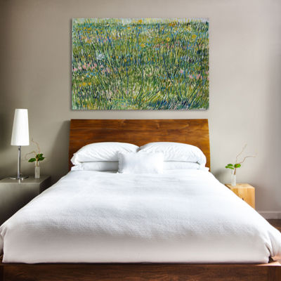 Patch of Grass by Vincent van Gogh Canvas Print