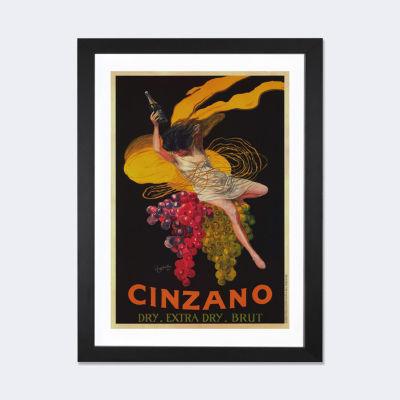Asti Cinzano (Vintage) by Leonetto Cappiello BlackFramed Fine Art Paper Print