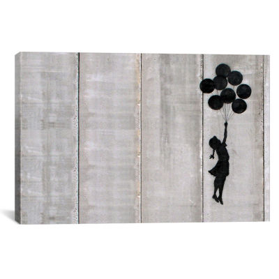 Flying Balloons Girl by Banksy Canvas Print