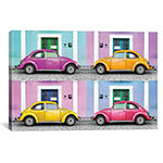 Four VW Beetle Cars II by Philippe Hugonnard Canvas Print