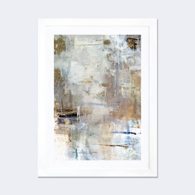 Asking for White by Julian Spencer White Framed Fine Art Paper Print