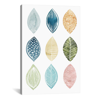 Patterned Leaves I by Grace Popp Canvas Print