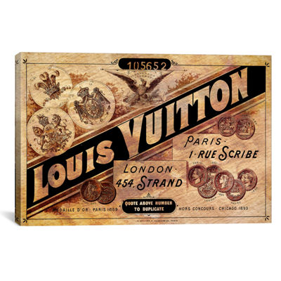 Vintage Louis Vuitton Advertisement by 5by5collective Canvas Print