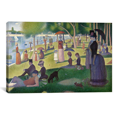 Sunday Afternoon on the Island of La Grande Jatteby Georges Seurat Canvas Print