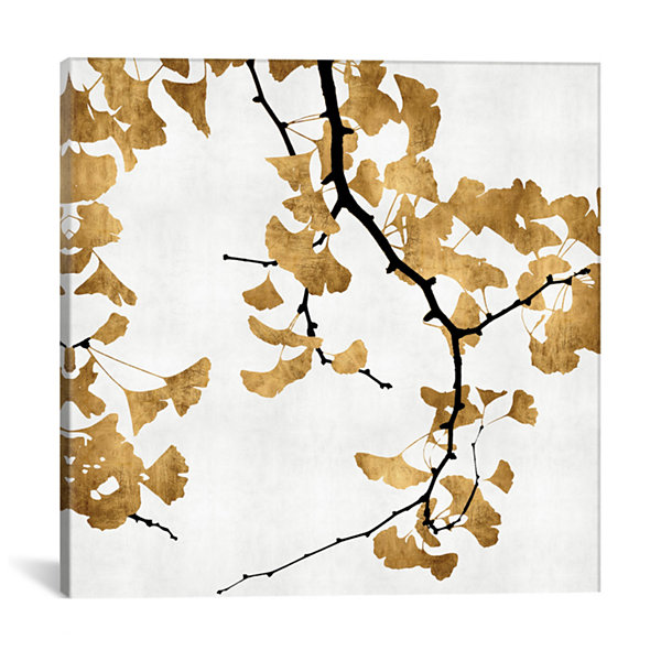 Ginkgo In Gold II by Kate Bennett Canvas Print