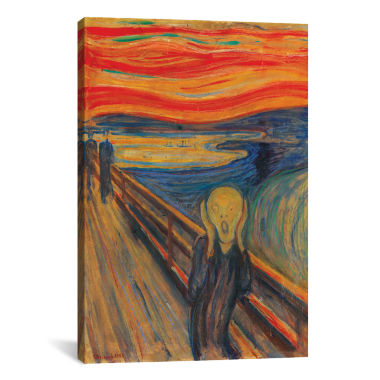 The Scream; 1893 (Oil; Tempera & Pastel On Cardboard) by Edvard Munch Canvas Print