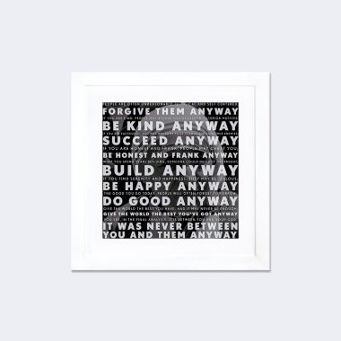 Mother Teresa Quote by iCanvas White Framed Fine Art Paper Print