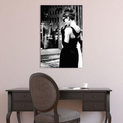 Audrey Hepburn Window Shopping I by Radio Days Canvas Print
