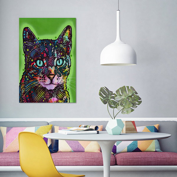 Watchful Cat by Dean Russo Canvas Print
