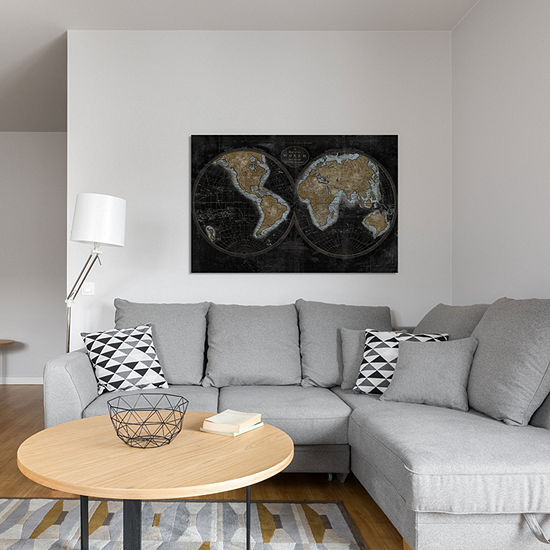 The World In Gold by Russell Brennan Canvas Print