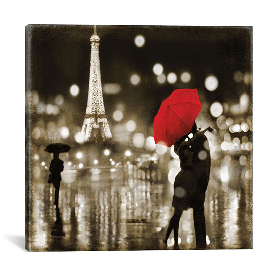 A Paris Kiss by Kate Carrigan Canvas Print