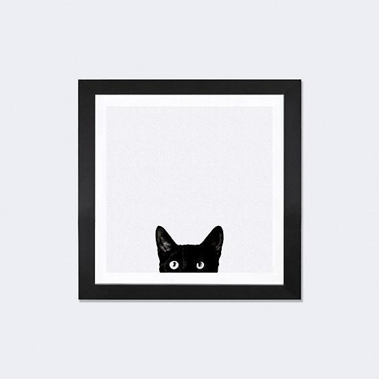 Curiosity by Jon Bertelli Black Framed Fine Art Paper Print