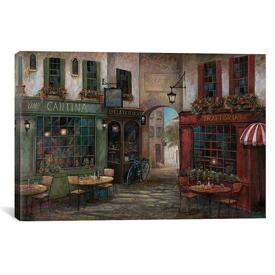 Courtyard Ambiance By Ruane Manning Canvas Print
