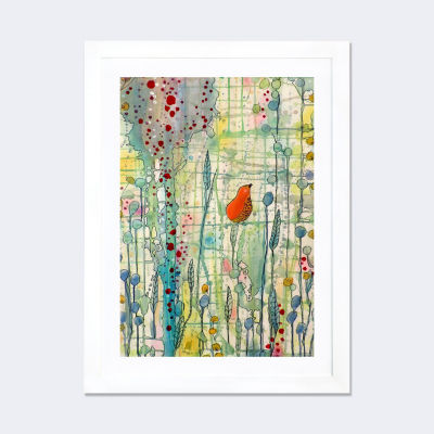 Alpha by Sylvie Demers White Framed Fine Art PaperPrint